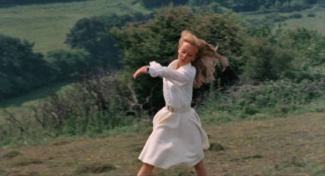 ... when he sees Ellie Thomsen (Hayley Mills) dancing on the hillside in Sidney Gilliat's Endless Night (1972)