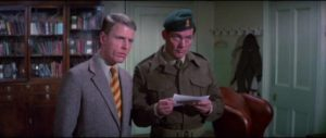 Miller (Edward Fox) and Mallory (Robert Shaw receive their assignment in Guy Hamilton's Force 10 From Navarone (1978)