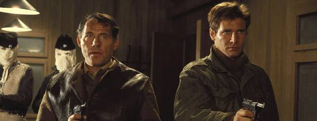 Mallory (Robert Shaw) and Miller (Edward Fox) confront the Germans in Guy Hamilton's Force 10 From Navarone (1978)