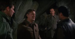 Petrovitch (Alan Badel) distrusts the British in Guy Hamilton's Force 10 From Navarone (1978)