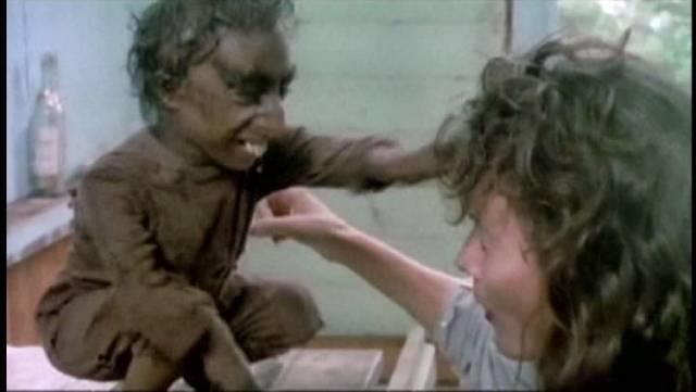 Nelson de la Rosa as the murderous mutant creature in Giuliano Carnimeo's Ratman (1988)