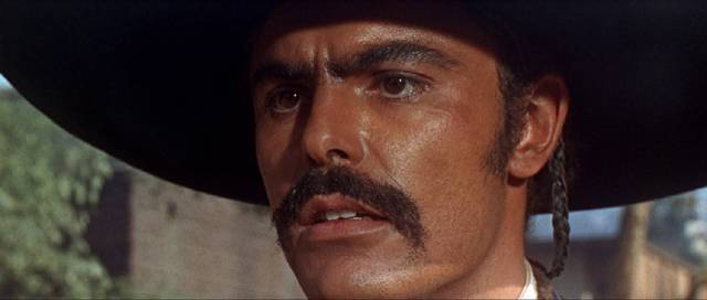 John Saxon as the bandit Chuy Medena in Sidney Furie's The Appaloosa (1966)