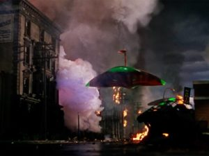 Everything seems hopeless as the Martians move through the city in Byron Haskin's The War of the Worlds (1953)