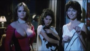 Three seductive sisters prey on a police inspector in Ruggero Deodato's The Washing Machine (1993)