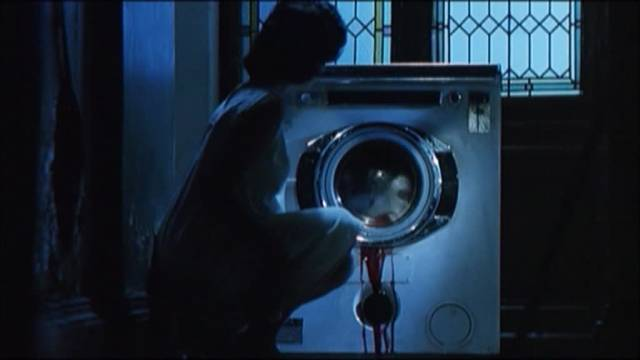 Ludmilla (Barbara Ricci) discovers an unconventional use for an everyday appliance in Ruggero Deodato's The Washing Machine (1993)