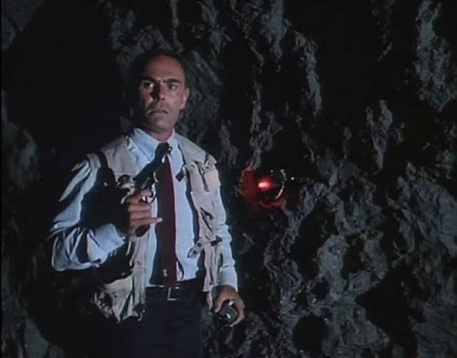 John Saxon as villain Colonel Gordon Burgess in Death House (1988)