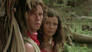 Gloria Davis (Lorraine De Selle) and her brother Rudy (Danilo Mattei) witness horrors in Umberto Lenzi's Cannibal Ferox (1981)