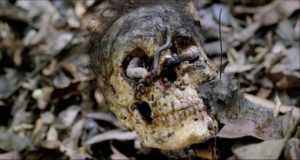 The jungle is littered with the remains of meals in Umberto Lenzi's Cannibal Ferox (1981)