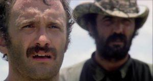 Prof. Harold Monroe (Robert Kerman) doesn't like what he finds in Ruggero Deodato's Cannibal Holocaust (1980)