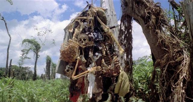 The land is marked by ominous portents in Ruggero Deodato's Cannibal Holocaust (1980)