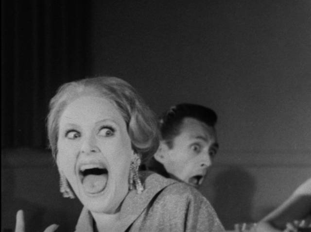 People at a local dance can't believe what they're seeing in Art Nelson's The Creeping Terror (1964)