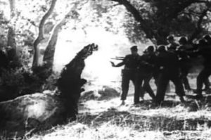 The military fail to stop the monster in Art Nelson's The Creeping Terror (1964)