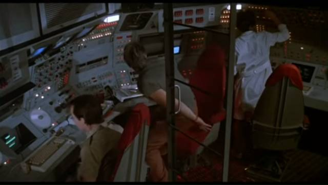 The crew of an orbital battle station watch the world blow up in Paul Donovan's Def-Con 4 (1985)
