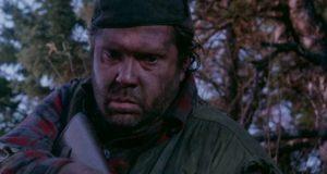 Maury Chaykin as a grubby nuclear-war survivor in Paul Donovan's Def-Con 4 (1985)