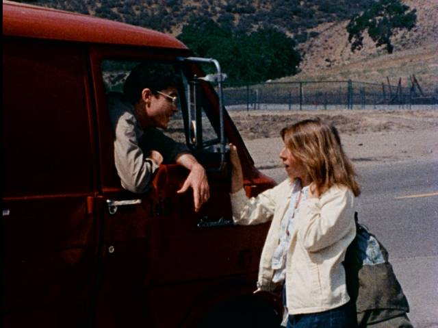 Delivery man Howard Martin (Robert Gribbin) cheerfully offers rides in Irvin Berwick's Hitch Hike to Hell (1977)