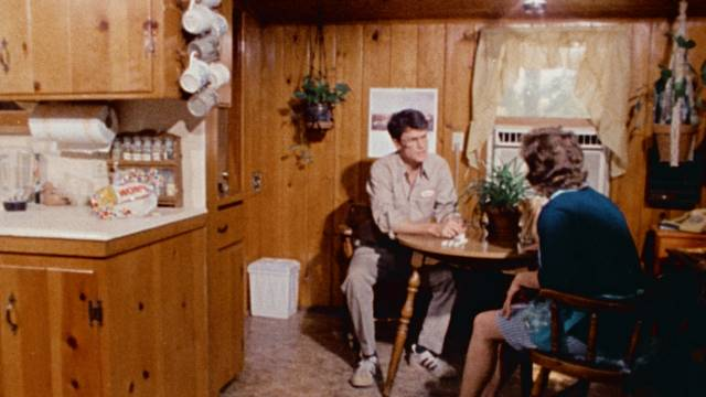 Howard (Robert Gribbin) has a complicated relationship with his clingy mother (Dorothy Bennett) in Irvin Berwick's Hitch Hike to Hell (1977)
