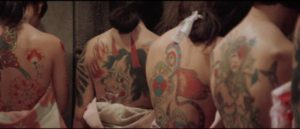 Tattooed bodies are fetishized in Teruo Ishii's Inferno of Torture (1969)