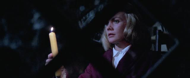 Carroll Baker is a woman dealing with childhood trauma in Umberto Lenzi's Knife of Ice (1972)