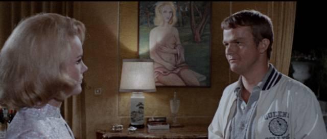 Lou Castel insinuates himself into Carroll Baker's villa in Umberto Lenzi's Orgasmo (1969)