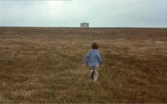 Anna (Charlotte Burke) finds herself in a landscape she drew in Bernard Rose's Paperhouse (1988)