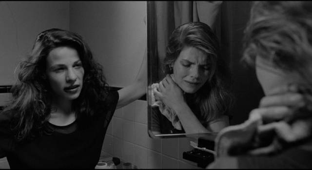 Kathleen (Lili Taylor) has no empathy for her victim's in Abel Ferrara's The Addiction (1995)