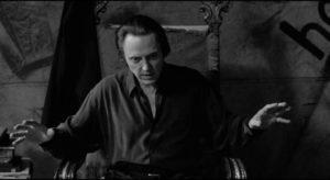 Senior vampire Peina (Christopher Walken) has no empathy for Kathleen (Lili Taylor) in Abel Ferrara's The Addiction (1995)