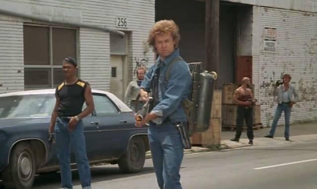 Paul Koslo as psychotic gang leader Roy Boy Jagger in Charles E. Sellier Jr's The Annihilators (1985)