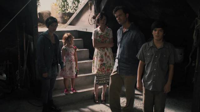 Chris Cleek (Sean Bridgers) introduces his new project to the family in Lucky McKee's The Woman (2011)