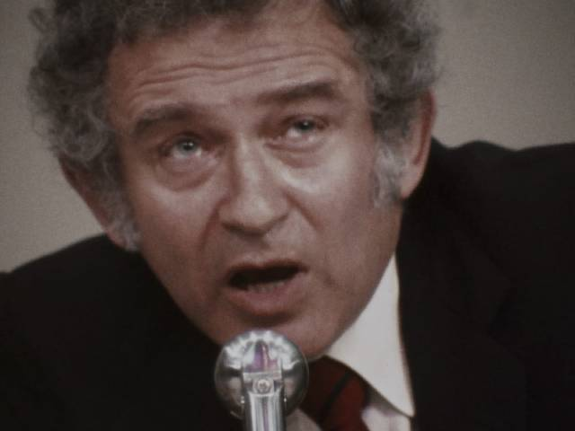Norman Mailer asserts his intellectual authority in Chris Hegedus and D.A. Pennebaker's Town Bloody Hall (1979)