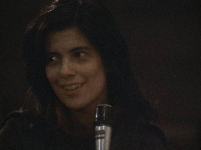 Susan Sontag poses a question to Norman Mailer from the audience in Chris Hegedus and D.A Pennebaker's Town Bloody Hall (1979)