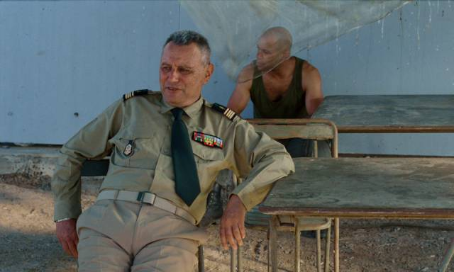 Commander Forestier (Michel Subor) is puzzled by Galoup's behaviour in Claire Denis' Beau Travail (1999)
