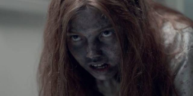 Lauryn Canny as a feral child raised by a cannibal in Pollyanna McIntosh's Darlin' (2019)