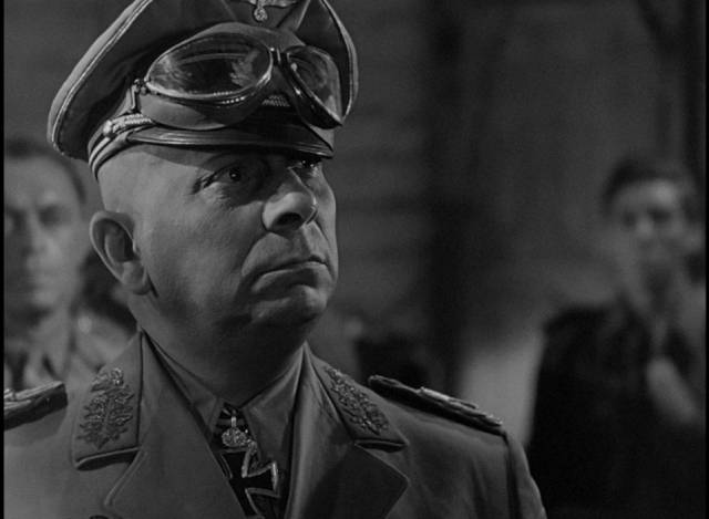 Erich von Stroheim exudes egotistical confidence as Field Marshall Erwin Rommel in Billy Wilder's Five Graves to Cairo (1943)