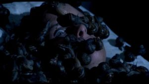 Slimed to death in Lucio Fulci's Aenigma (1987)