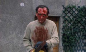 A murderous figment of the director's imagination in Lucio Fulci's Cat in the Brain (1990)