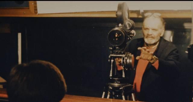 Fulci at work in Simone Scafidi's biographical documentary Fulci for Fake (2019)
