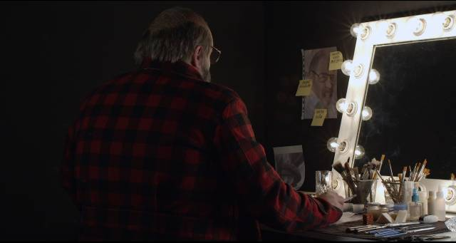 Actor Nicola Nocella transforms himself into Lucio Fulci in Simone Scafidi's Fulci for Fake (2019)