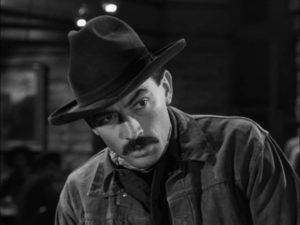 ... but Jimmy Ringo (Gregory Peck) refuses to be provoked in Henry King's The Gunfighter (1950)