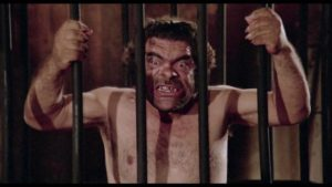 Salvatore Baccaro is an odd choice to advance the Master Race in Luigi Batzella's The Beast in Heat (1977)