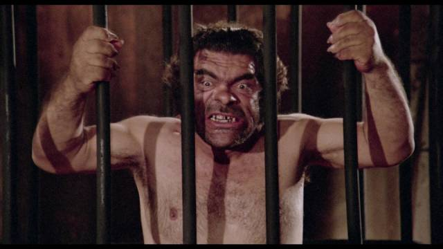 Salvatore Baccaro is an odd choice to advance the Master Race in Luigi Batzella's The Beast in Heat (1977)