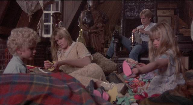 The kids retreat to the attic and form their own family in Jeffrey Bloom's Flowers in the Attic (1987)