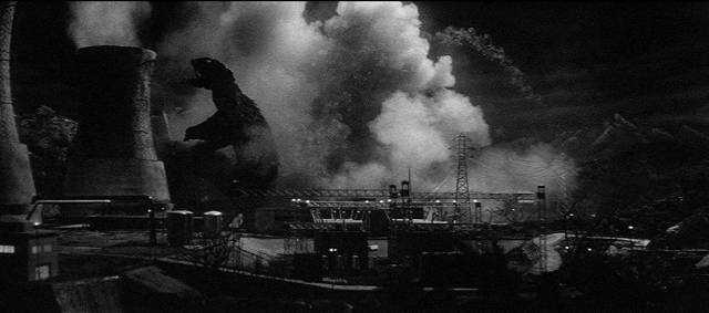 A giant flying turtle attacks Japan's infrastructure in Noriaki Yuasa's Gamera: The Giant Monster (1965)