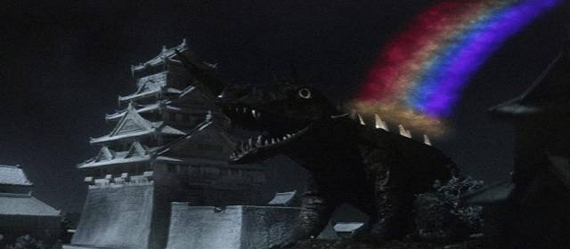... while Gamera tackled Baragon ...