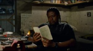 The hitman (Forest Whitaker) relaxes between contracts in Jim Jarmusch's Ghost Dog: The Way of the Samurai (1999)