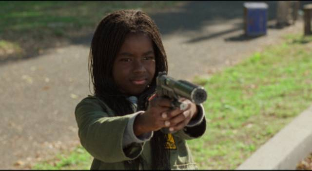Pearline (Camille Winbush) inherits Ghost Dog (Forest Whitaker)'s role in Jim Jarmusch's Ghost Dog: The Way of the Samurai (1999)