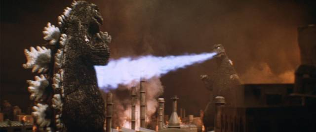 Big G meets his alien-built robot double in Jun Fukuda's Godzilla vs Mechagodzilla (1974)