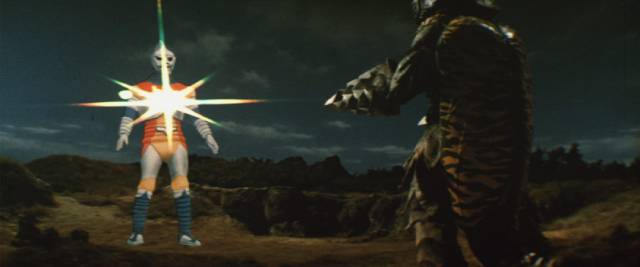 Robot Jet Jaguar joins the fight in Jun Fukuda's Godzilla vs Megalon (1973)