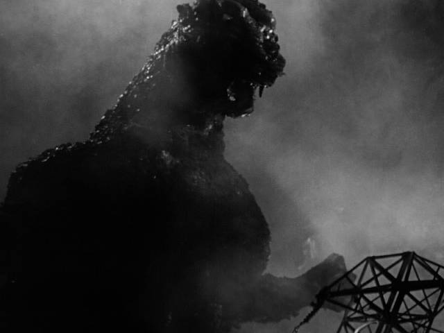 A star is born: Big G, woken by an A-bomb test, is very angry in Ishiro Honda's Gojira (1954)