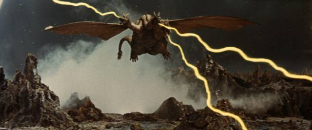 King Ghidorah the space dragon attacks in Ishiro Honda's Invasion of Astro-Monster (1965)