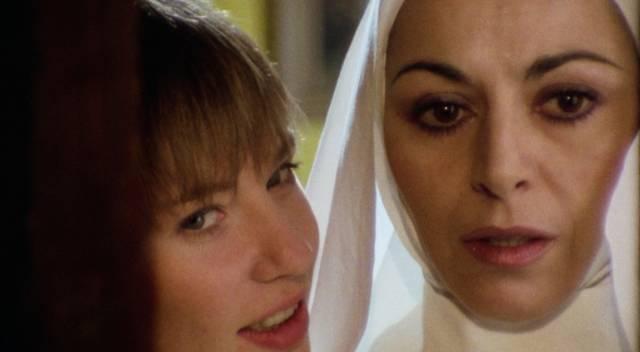 A touch of nunsploitation: Bimba (Katell Laennec) and Suor Sofia (Mariangela Giordano) in Andrea Bianchi's Malabimba (1979)